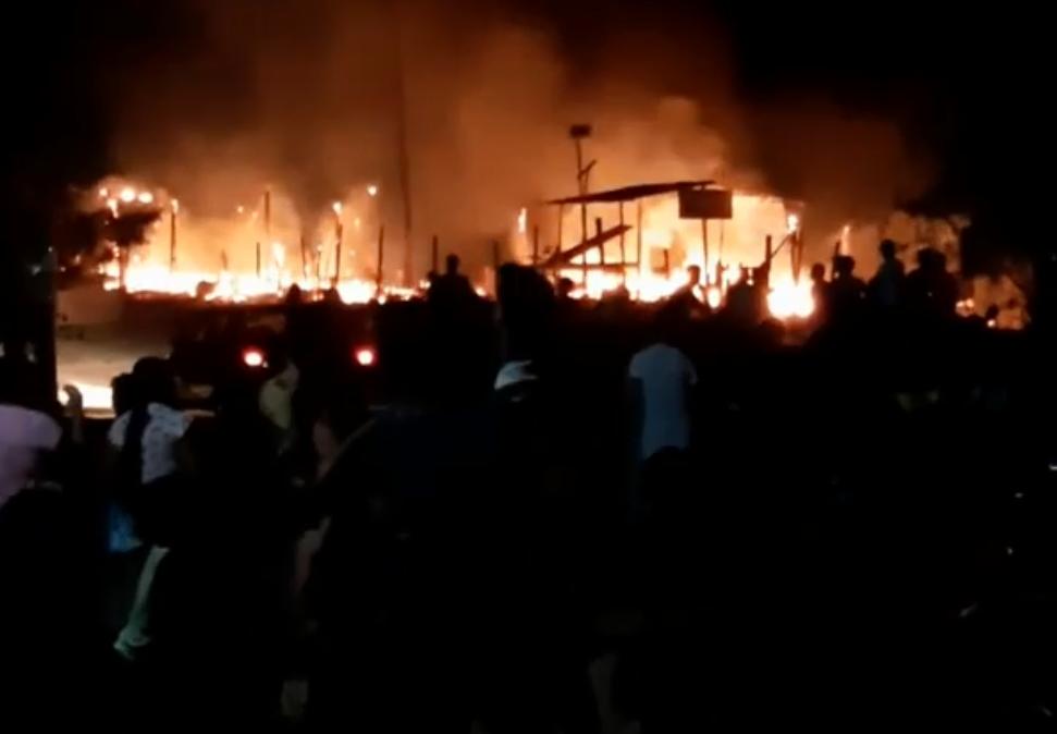 Incêndio destrói barracos em assentamento em Rio Largo, AL